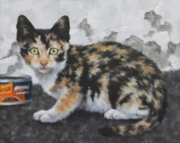 """""""Dumpster Kitten I"""" original fine art by Sarah Becktel"""