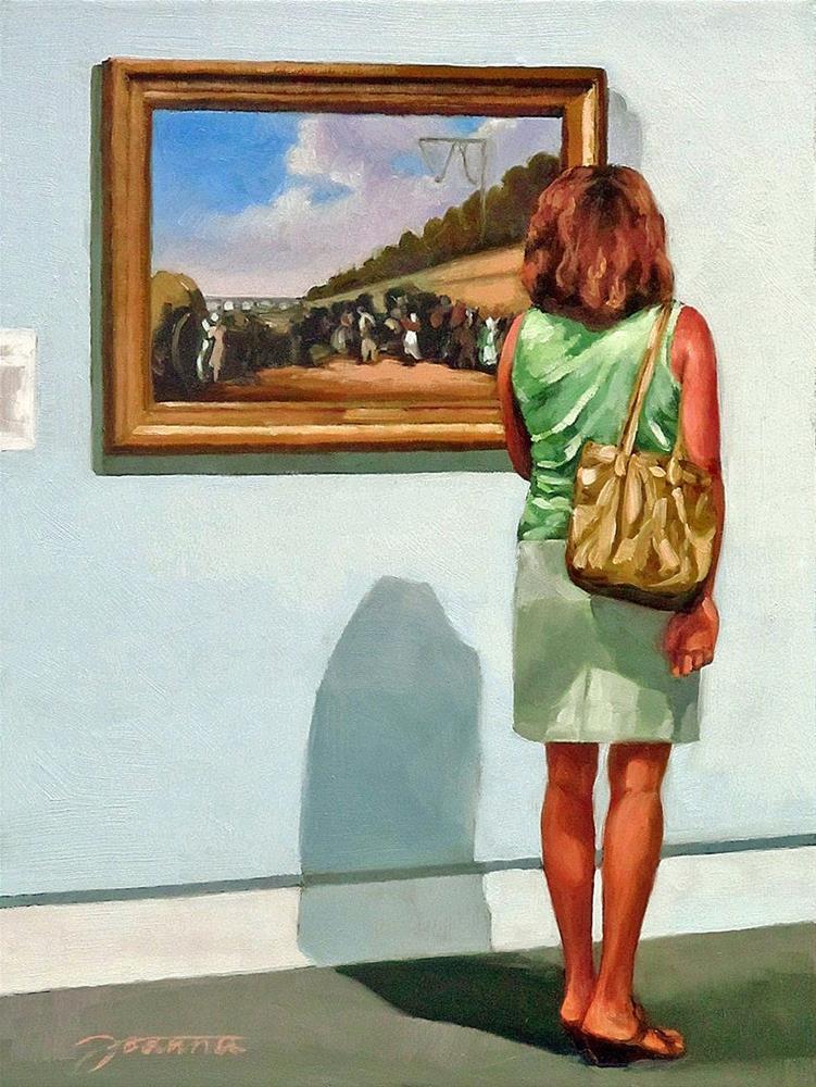 """""""Meticulous Viewing--Painting People in Museum/Gallery Series"""" original fine art by Joanna Bingham"""