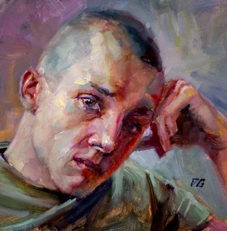 """Portrait No. 3"" original fine art by Dimitriy Gritsenko"