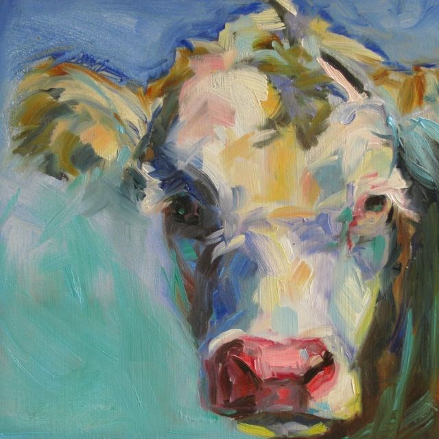 """MOO"" original fine art by Mb Warner"