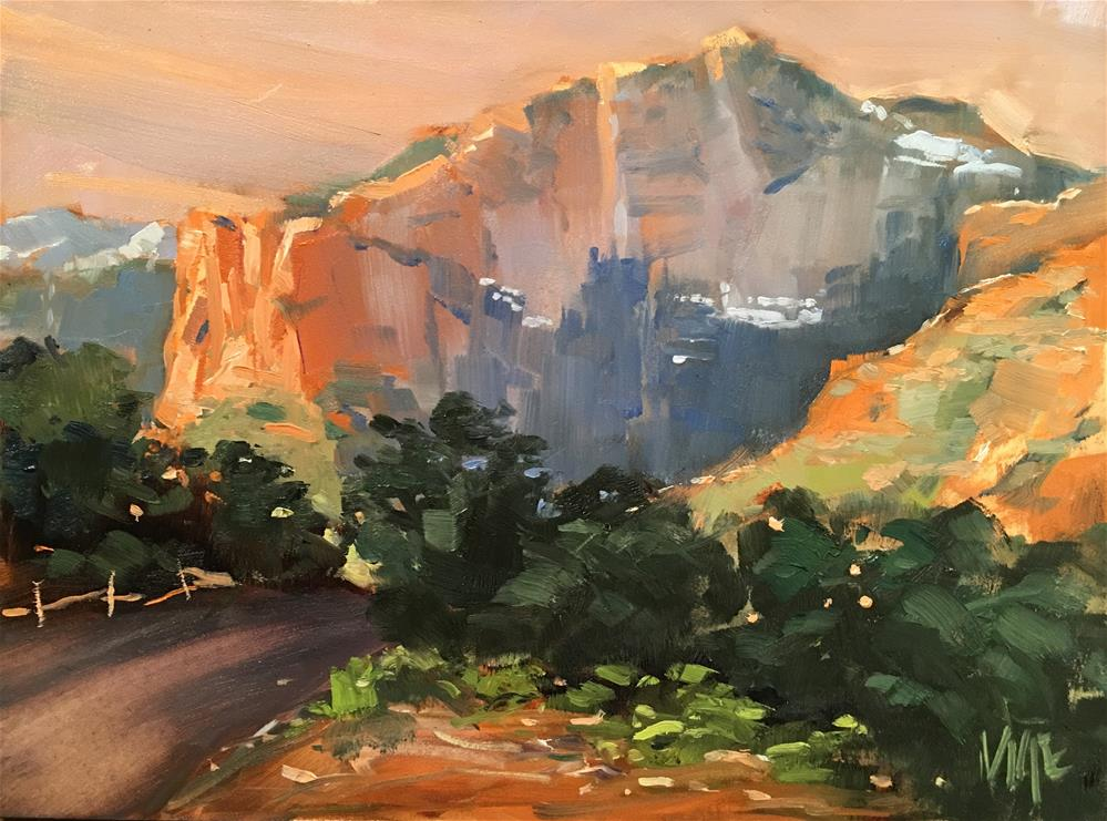 """#312 Slide Rock State Park"" original fine art by Patty Voje"