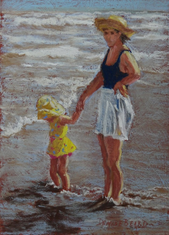 """Day at the Beach"" original fine art by Denise Beard"