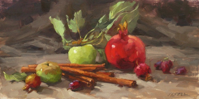 """Still Life With Cinnamon Sticks"" original fine art by Karen Werner"