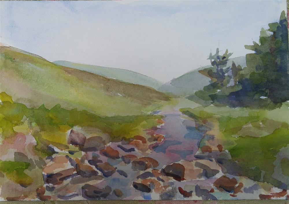 """Wicklow View"" original fine art by angela scully"