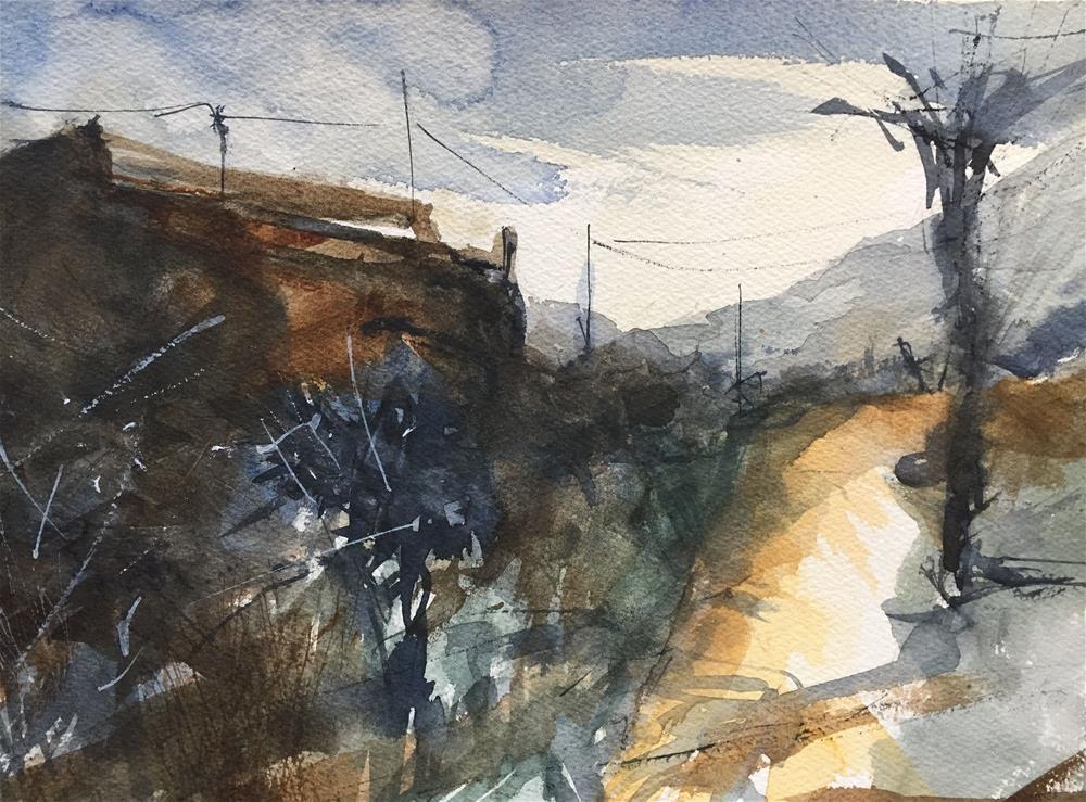"""""""FARMHOUSE IN SANT QUIRZE DE SAFAJA -BARCELONA-"""" original fine art by Ferran Llagostera"""