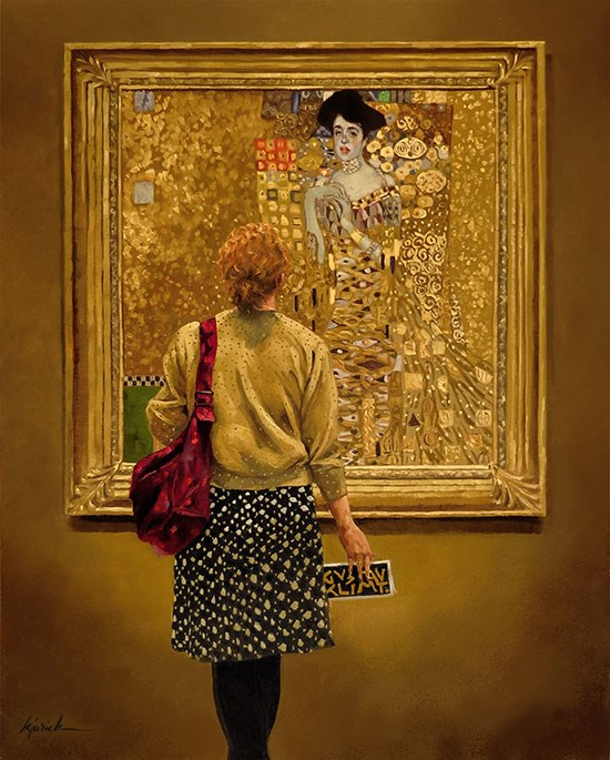 """Women in Gold"" original fine art by Karin Jurick"