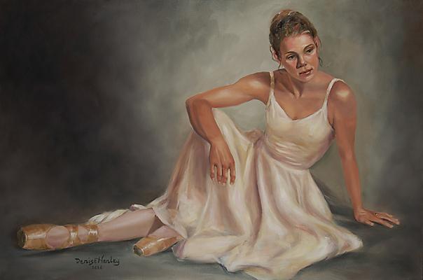 """Intermission"" original fine art by Denise Henley"