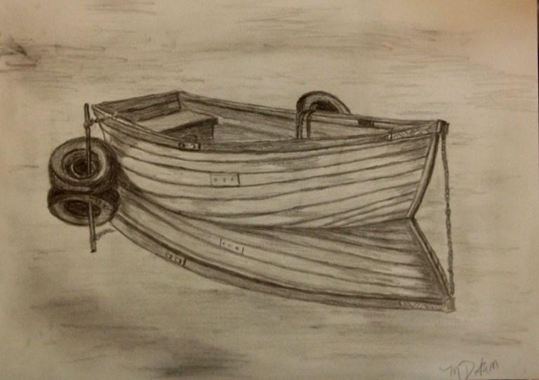 """Boat Reflection"" original fine art by Mary Datum"