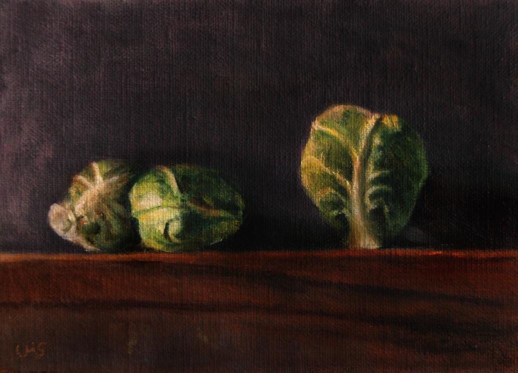 Brussels Sprouts original fine art by Ulrike Miesen-Schuermann