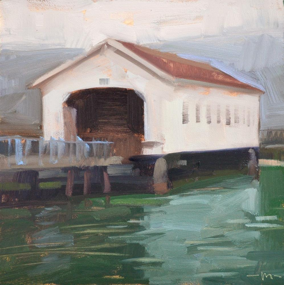 """Covered Bridge"" original fine art by Carol Marine"