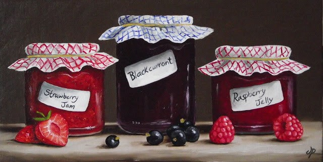 """Home made Jam & Jelly"" original fine art by Jane Palmer"