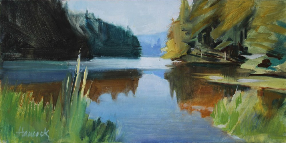 """Lake Gertrude"" original fine art by Gretchen Hancock"