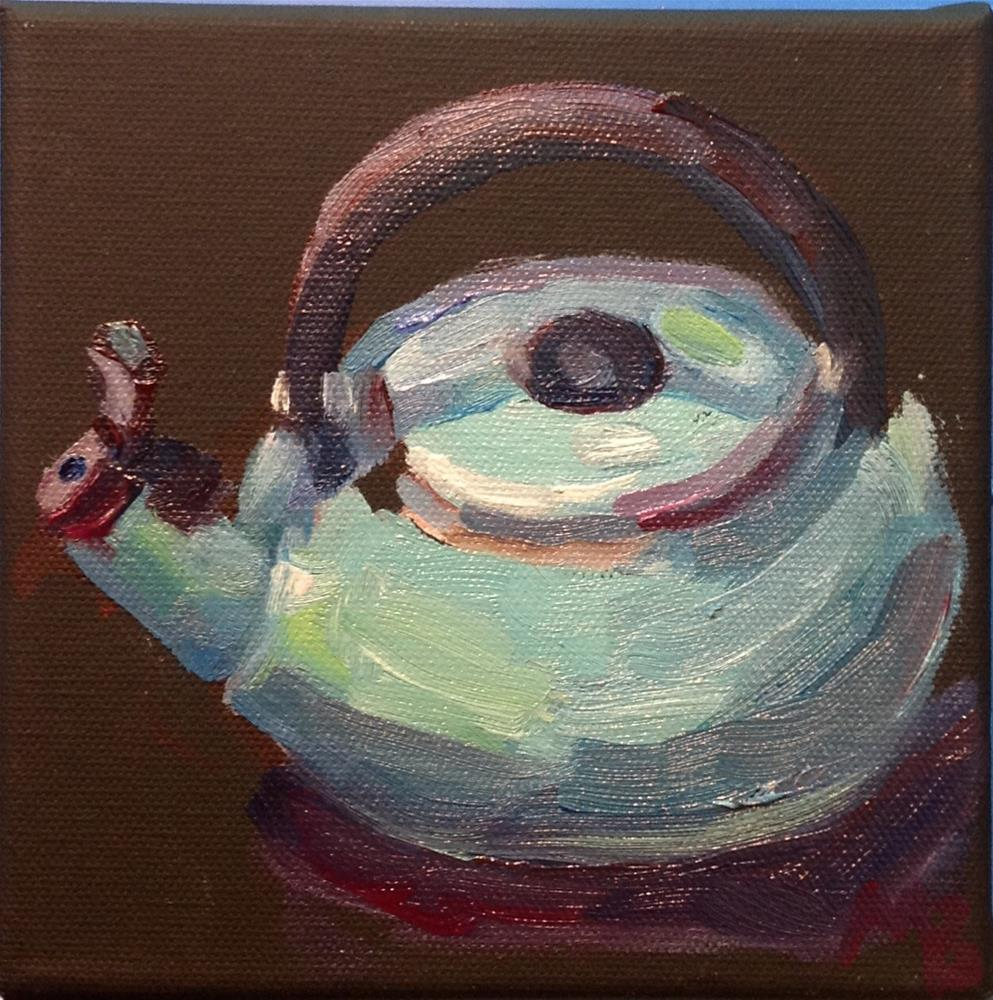 """Annette's Teapot"" original fine art by Marcia Bergtholdt"
