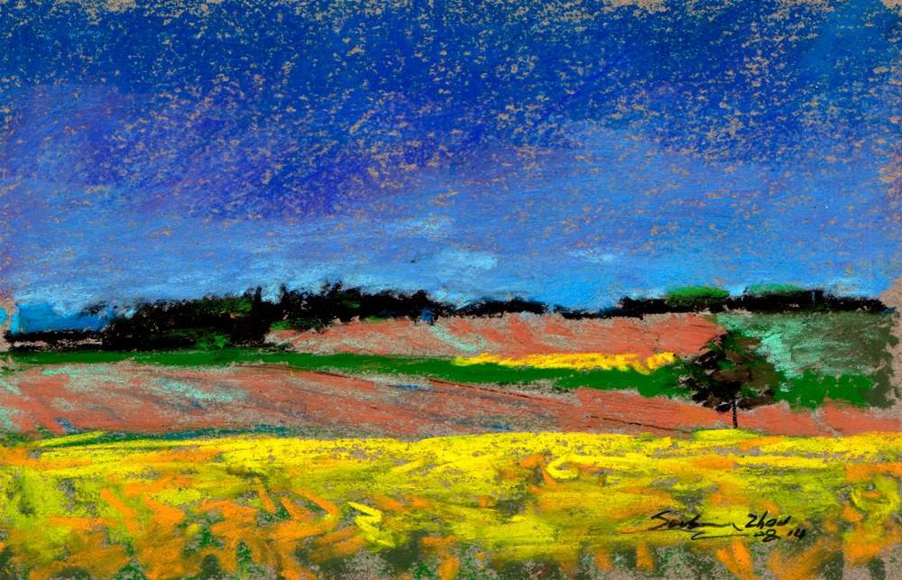 """Away from the Cornfield"" original fine art by Sabrina Zhou"