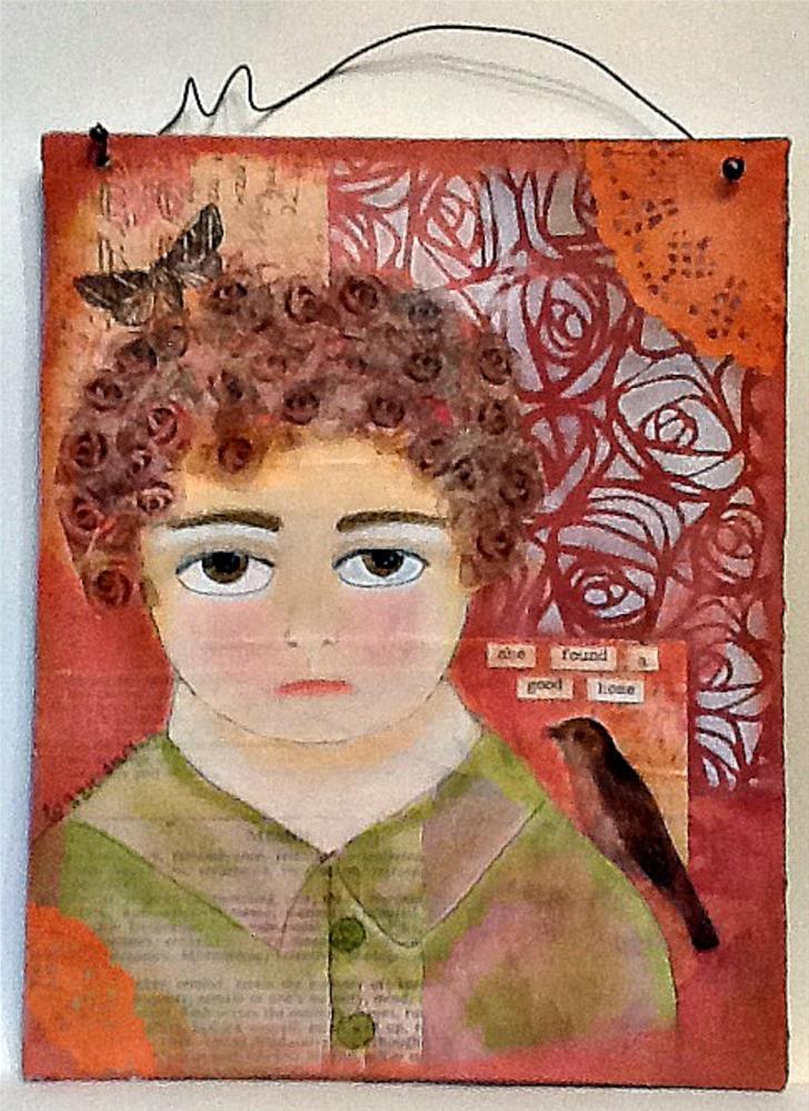 """SHE FOUND A GOOD HOME"" original fine art by Cindy Zoglmann"