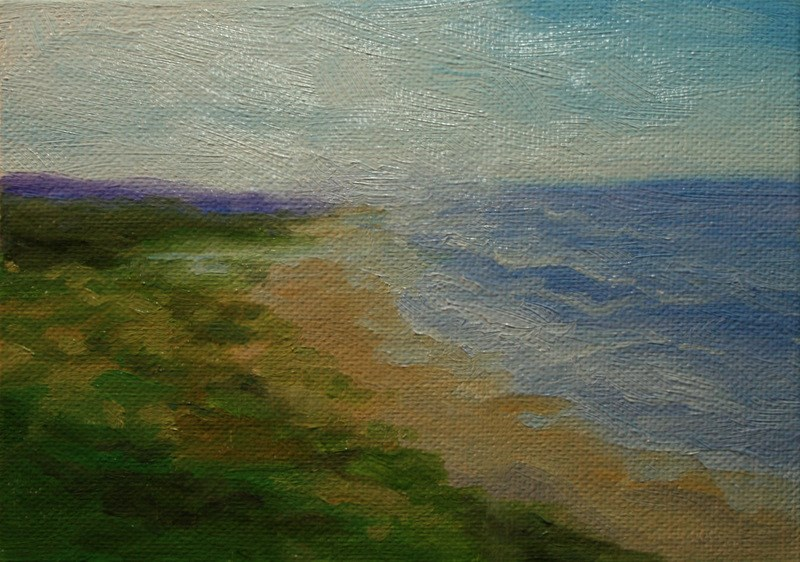 """Misty Coast"" original fine art by Jean Nelson"