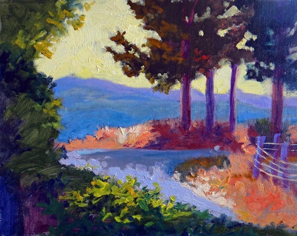 """Turning Road"" original fine art by Nancy Paris Pruden"