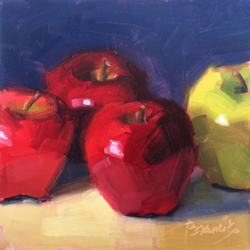 """Three to One"" original fine art by Candace Brancik"