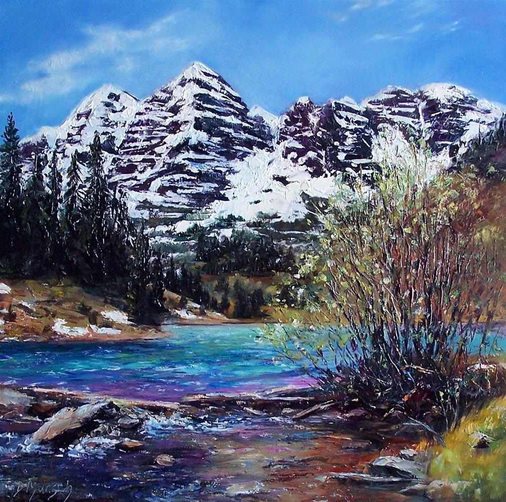 """Mountain Stream"" original fine art by Donna Munsch"