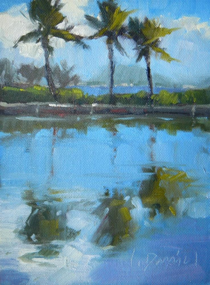 """Azure Reflections - Hawaii"" original fine art by Laurel Daniel"