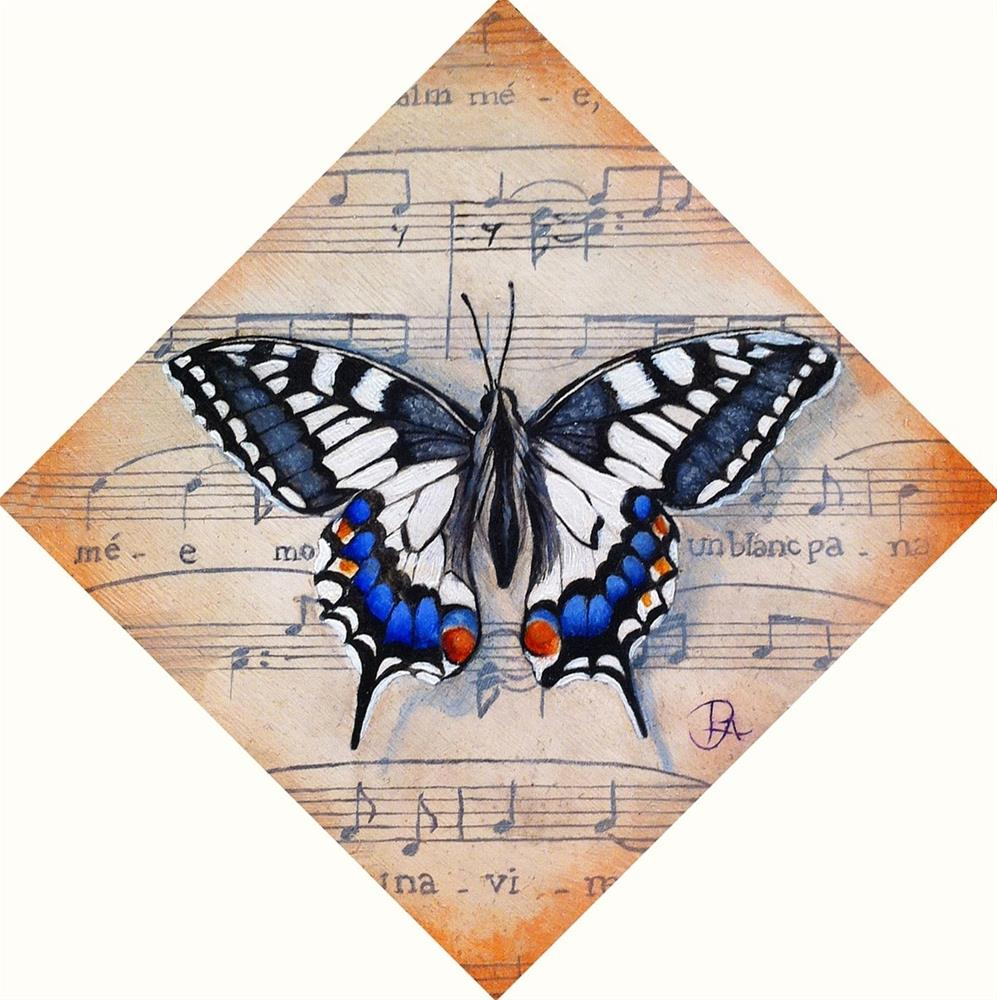 """Insect Music I: Madame Butterfly"" original fine art by Patti Adams"