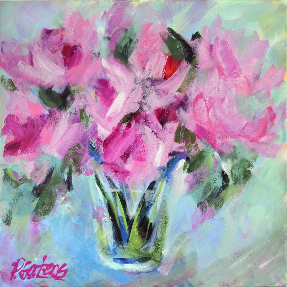 """Think Pink!"" original fine art by Pamela Gatens"