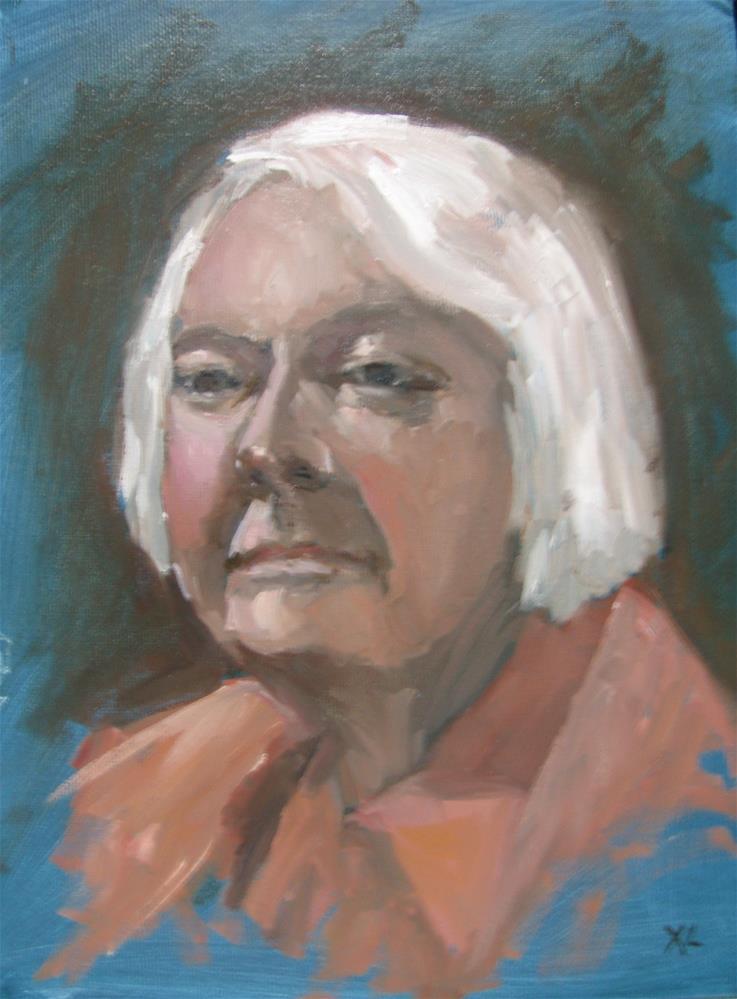 """""""Woman portrait"""" original fine art by Xiao Li"""
