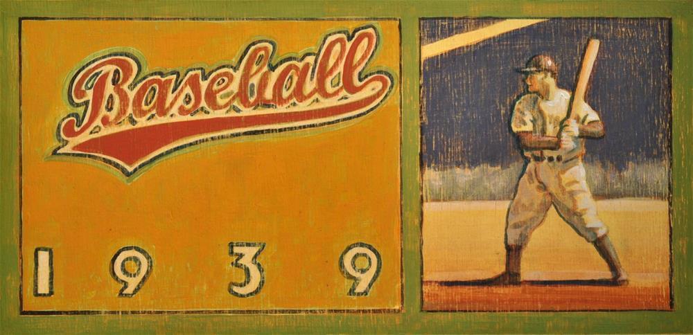 """""""Baseball"""" original fine art by Robert LaDuke"""