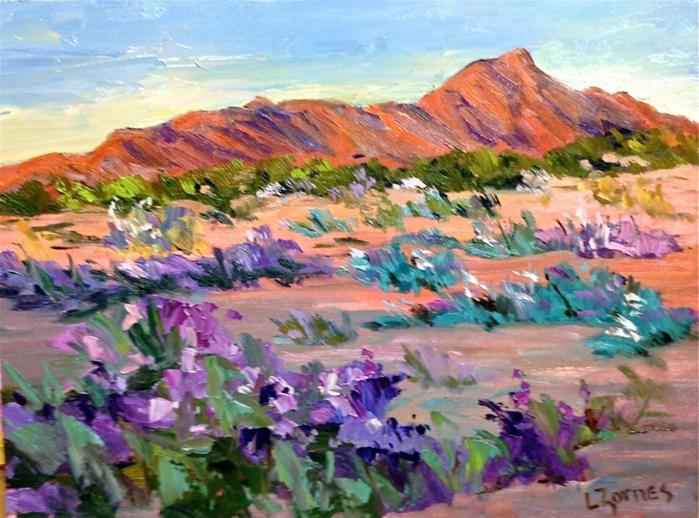 """Desert in Bloom"" original fine art by Liz Zornes"