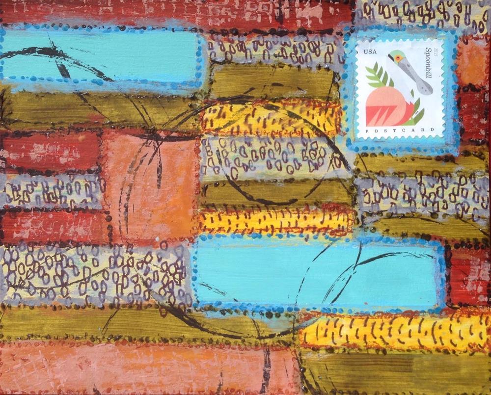 """""""Postcard 20"""" original fine art by Dotty  Seiter"""