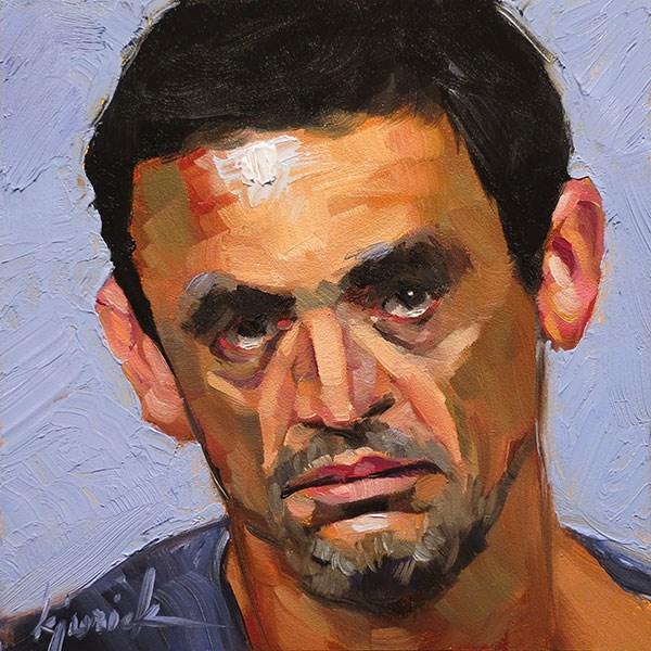 """200 Faces, No. 136"" original fine art by Karin Jurick"