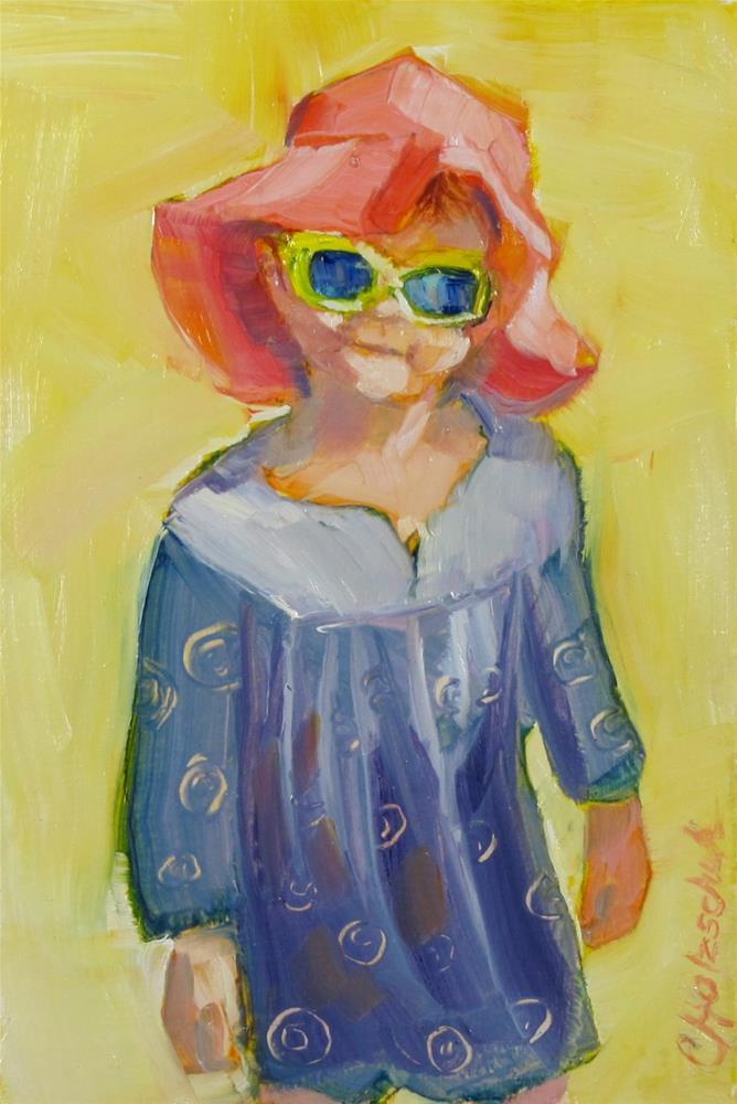"""""""Rosie"""" original fine art by Christine Holzschuh"""