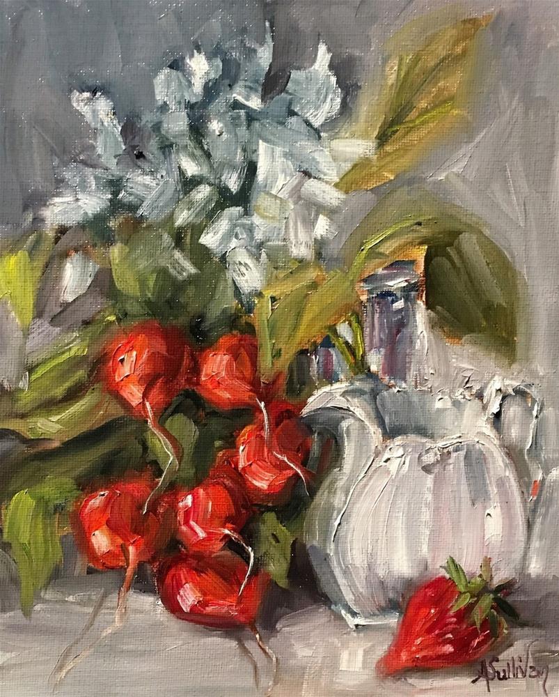 """Strange Breakfast still life painting by Alabama Artist Angela Sullivan"" original fine art by Angela Sullivan"