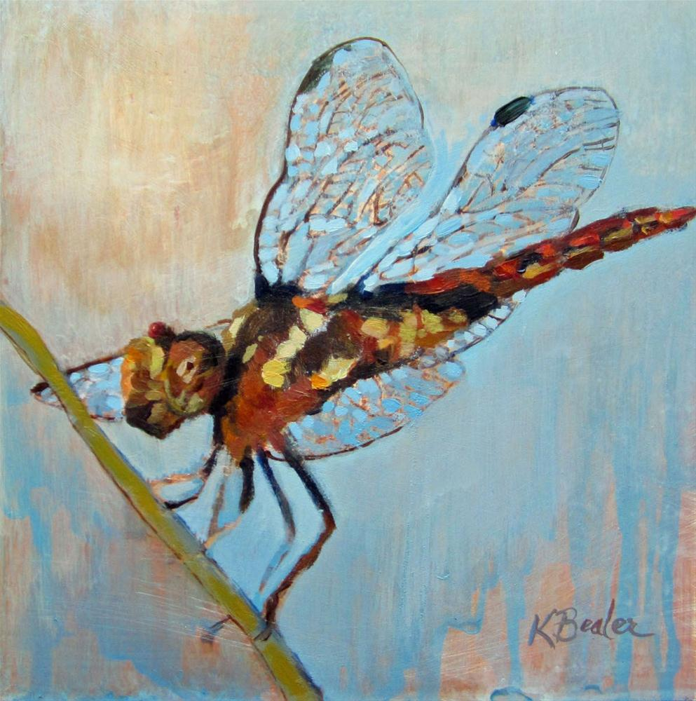 """dragonfly"" original fine art by Kaethe Bealer"