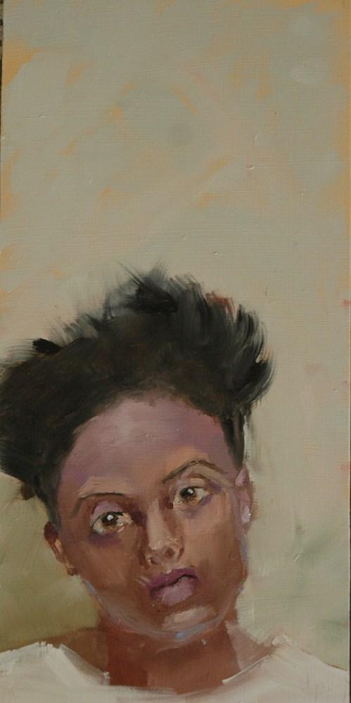 """""""FACE No. 29"""" original fine art by Linda Popple"""