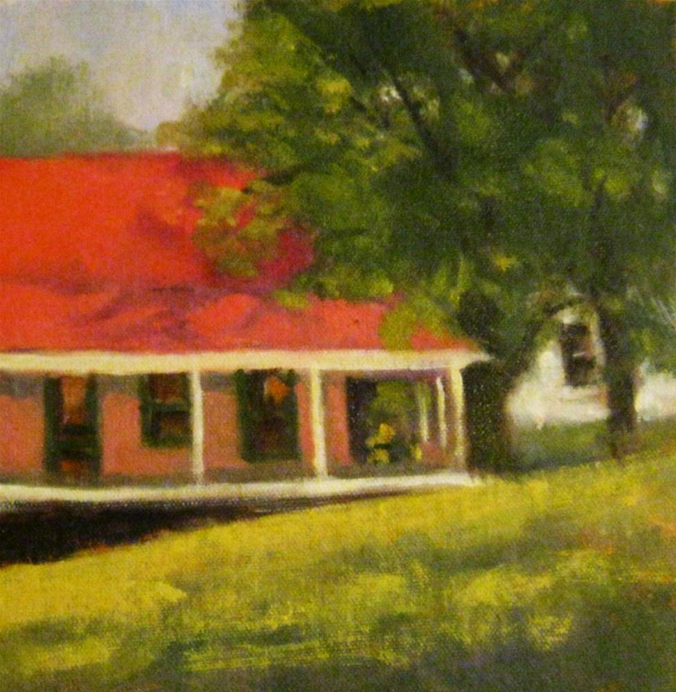Cottage, Nimrod Hall, Virginia original fine art by Connie Snipes