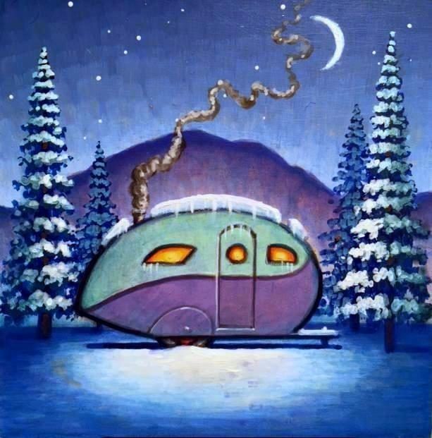 """Winter's Night"" original fine art by Robert LaDuke"