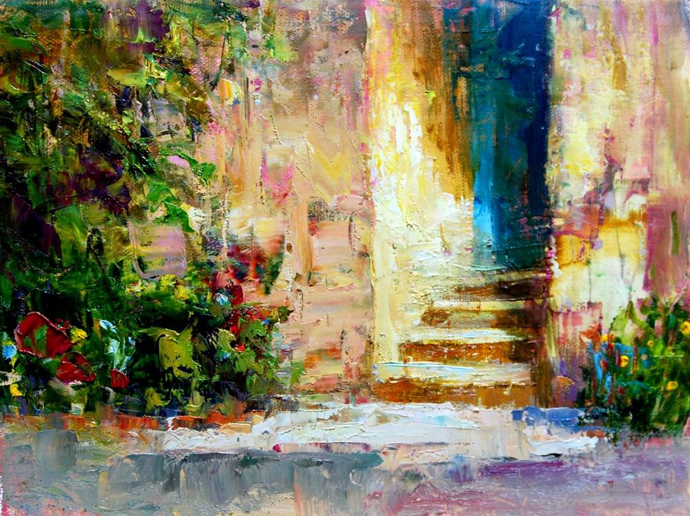 """Doorway to Memories"" original fine art by Julie Ford Oliver"
