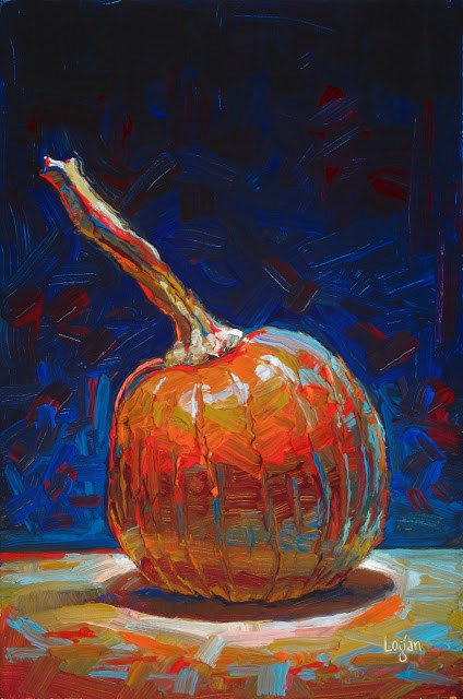 """""""Pumpkin"""" original fine art by Raymond Logan"""