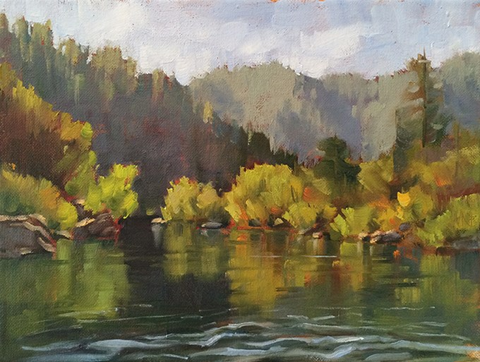 """Middle Fork"" original fine art by Deborah Newman"