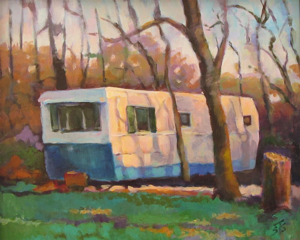 """US 33 Trailer"" original fine art by Susan Suraci"