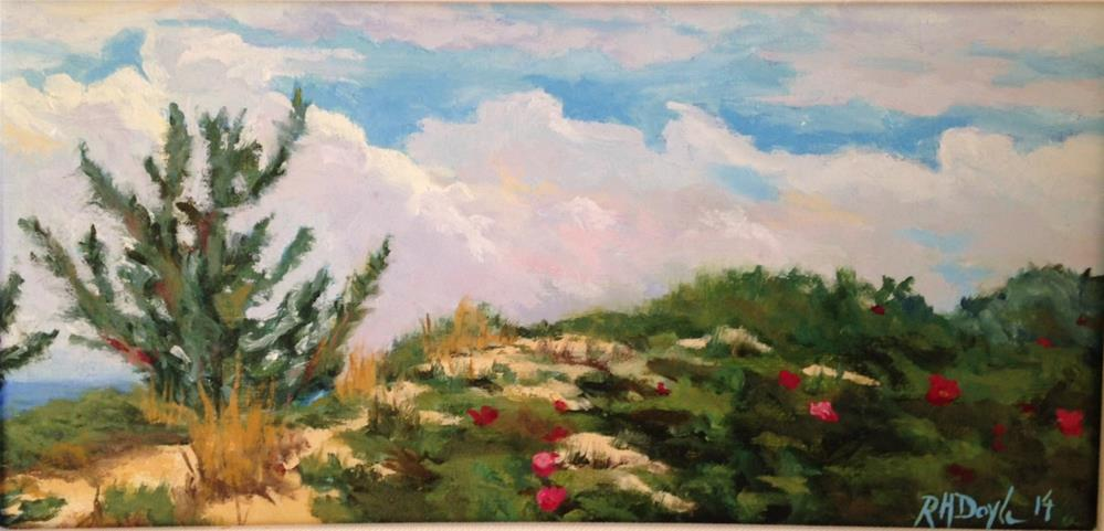 """Jones Beach Rosa Rigosas"" original fine art by Richard Doyle"