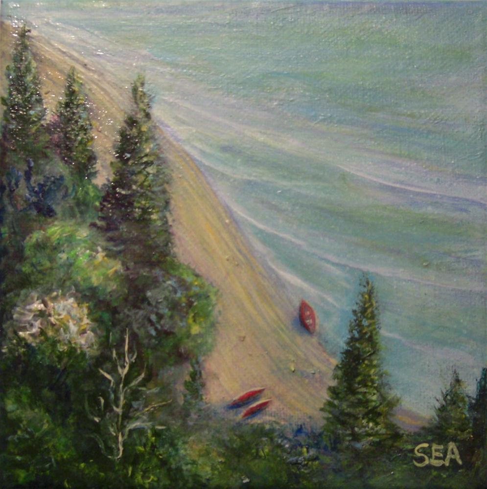 """1037 - Peaceful Afternoon - Miniature Masterpiece Series"" original fine art by Sea Dean"