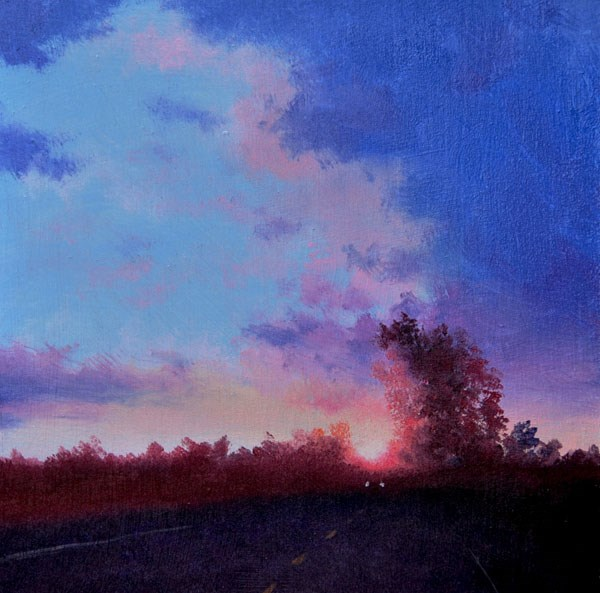 """""""HIGHWAY 66"""" original fine art by Gerald Schwartz"""