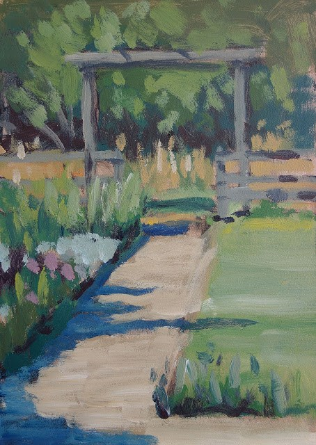 """Garden Pathway"" original fine art by J. Farnsworth"