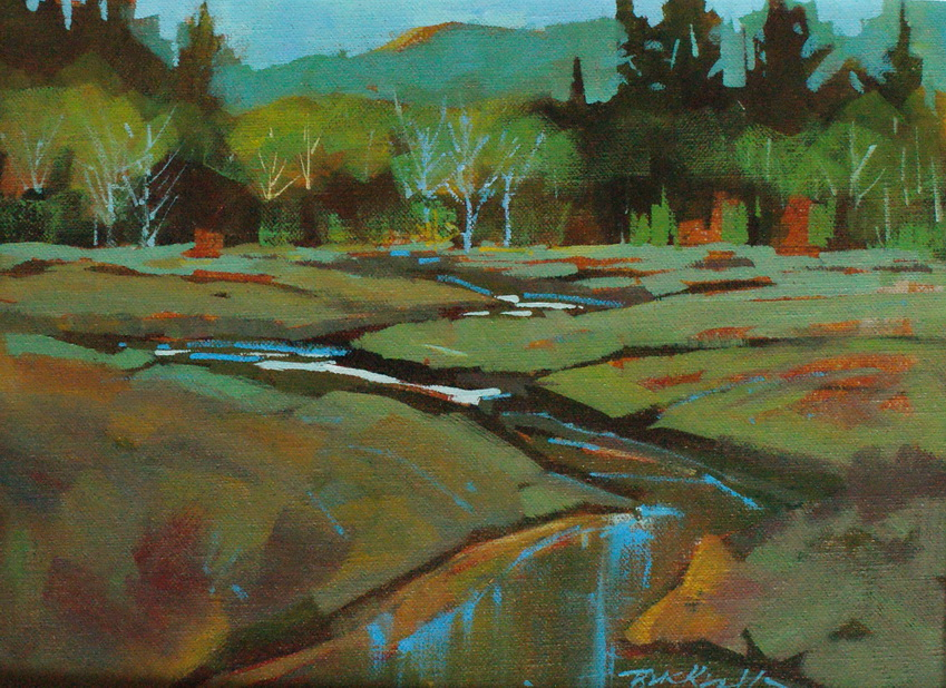 """Cluxewe Spring Colours"" original fine art by Brian Buckrell"