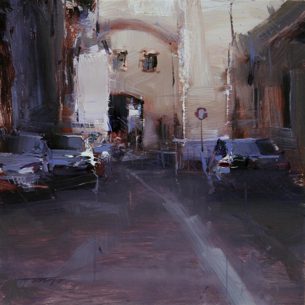 """Street Study"" original fine art by Tibor Nagy"