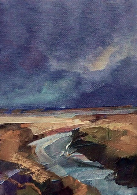 """""""Expected Storm"""" original fine art by Anne Wood"""