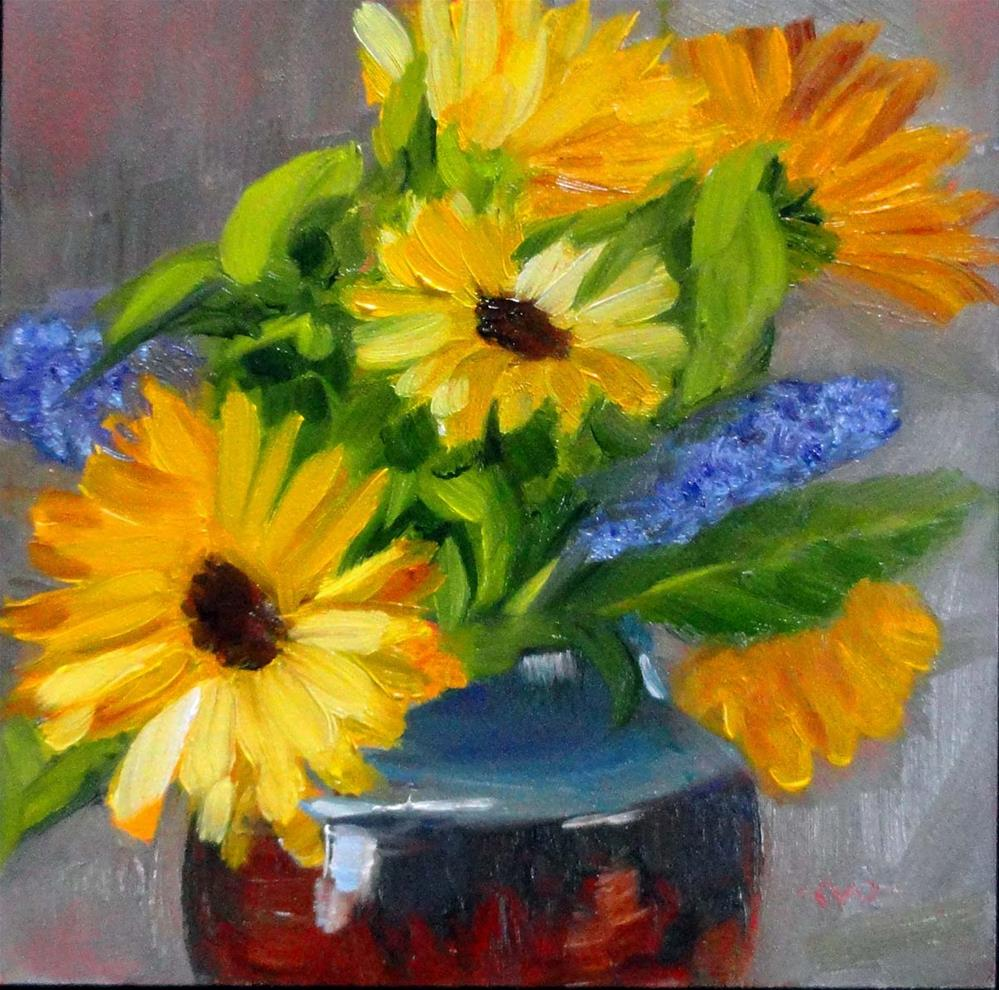 """Bedside Bouquet"" original fine art by Cietha Wilson"
