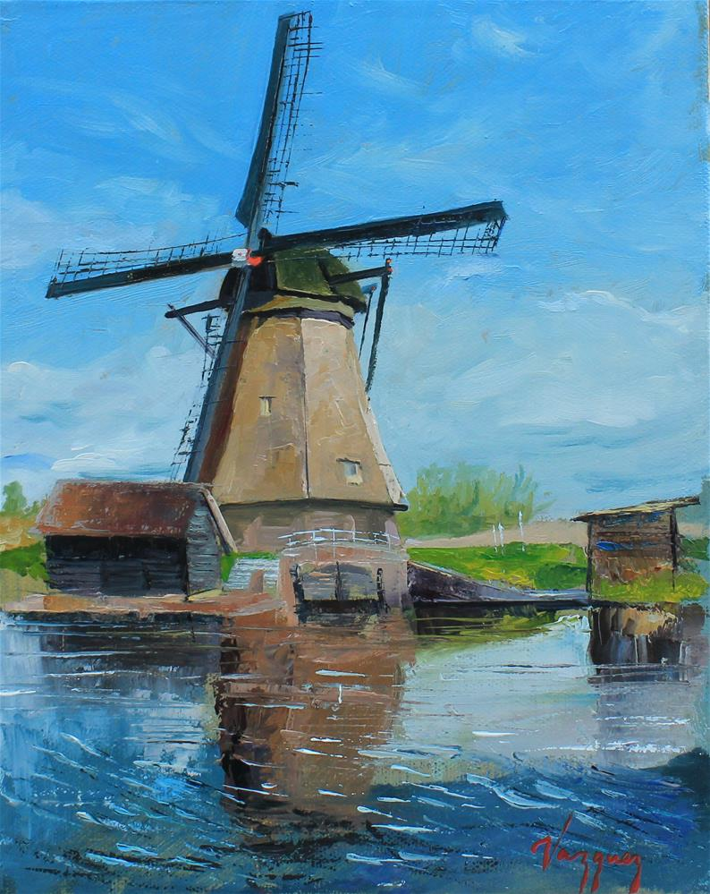 """Windmill"" original fine art by Marco Vazquez"